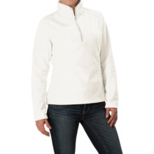 Everyday Fleece Jacket - Zip Neck (For Women) in White Print - 2nds