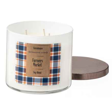 Everyday Luxe Farmhouse Farmers Market Soy Jar Candle - 3-Wick, 14.5 oz. in Bronze - Closeouts