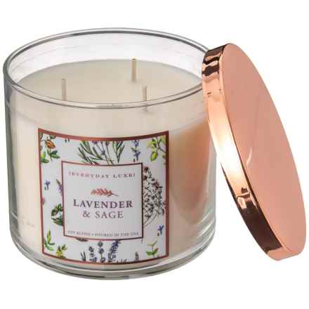 Everyday Luxe Lavender and Sage Soy-Blend Candle - 3-Wick, 14.5 oz. in See Photo - Closeouts