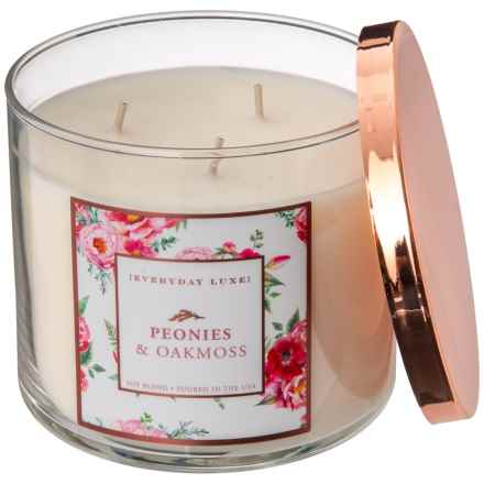 Everyday Luxe Peonies and Oakmoss Soy-Blend Candle - 3-Wick, 14.5 oz. in See Photo - Closeouts