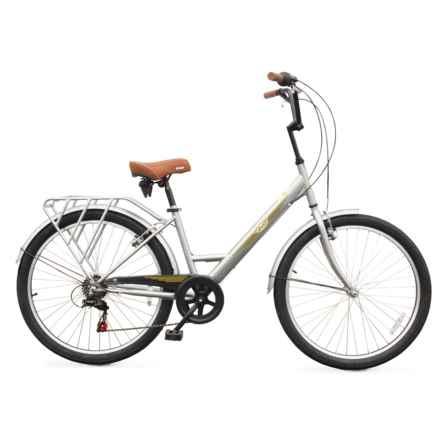 Evo Classic Step-Thru City Bicycle in Grey - Closeouts