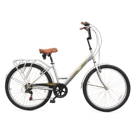 Evo Classic Step-Thru City Bicycle in Grey