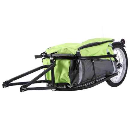 Evo E-Tec Adventure Bike Cargo Trailer with Waterproof Bag in See Photo - Closeouts