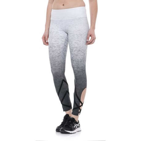 Evolution and Creation Geo Ombre Print Capris - High Waist (For Women) in Grey