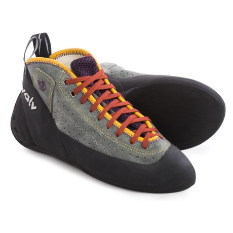 Evolv Astroman Climbing Shoes (For Men and Women) in Grey