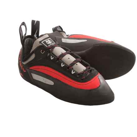 Evolv Bandit Lace Climbing Shoes (For Men and Women) in Red/Black - Closeouts
