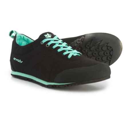 Evolv Cruzer Psyche Approach Shoes (For Men and Women) in Black Mint - Closeouts