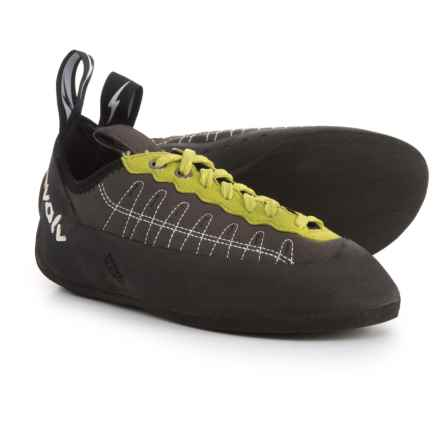 Evolv Defy Climbing Shoes - Lace-Ups (For Big Kids) in Charcoal/Lime - Closeouts