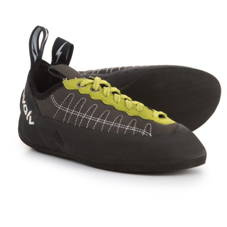 Evolv Defy Climbing Shoes - Lace-Ups (For Big Kids) in Charcoal/Lime