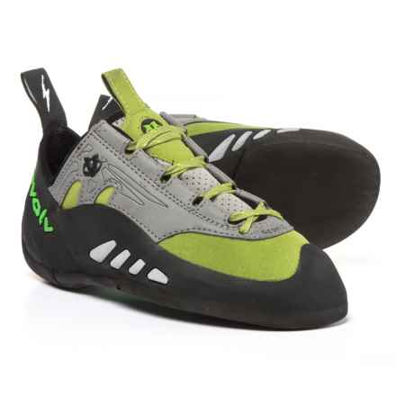 Evolv Geshido Lace Climbing Shoes - Suede (For Men and Women) in Lime/Grey - Closeouts