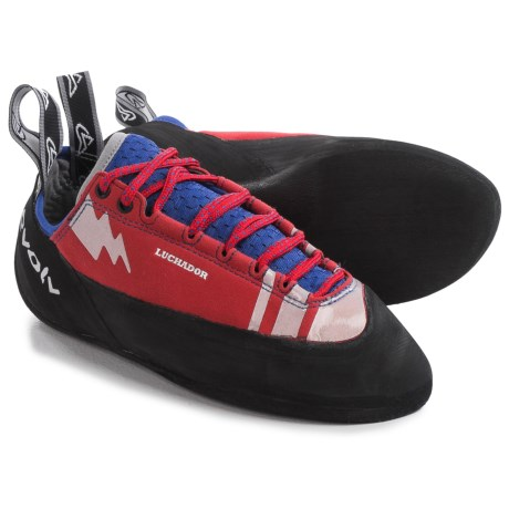 Evolv Luchador Lace Climbing Shoes (For Men and Women) in Red