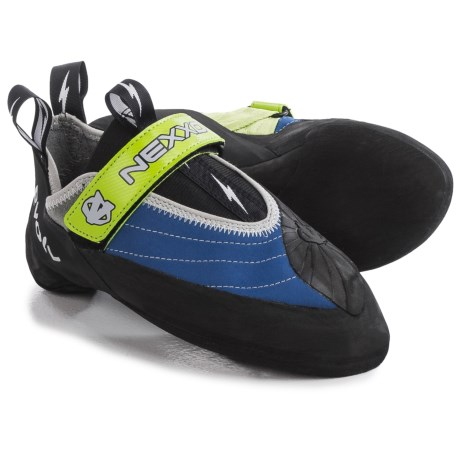 Evolv Nexxo Climbing Shoes (For Men and Women) in Blue/Green