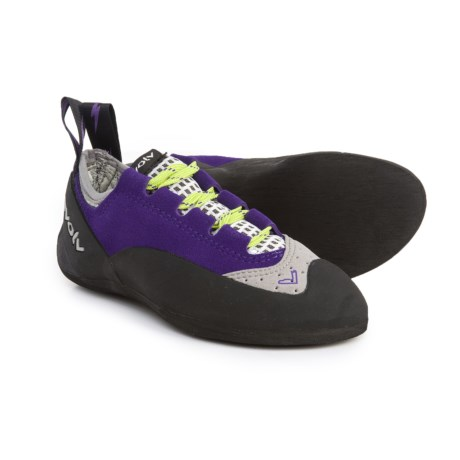 Evolv Nikita Lace Climbing Shoes - Suede (For Girls) in Purple/Grey