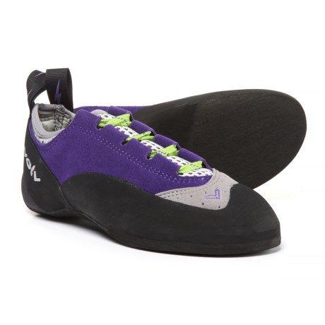 Evolv Nikita Lace Climbing Shoes - Suede (For Women) in Purple/Grey