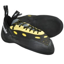 Evolv Prime Lace-Up Climbing Shoes (For Men and Women) in Yellow/Black - Closeouts