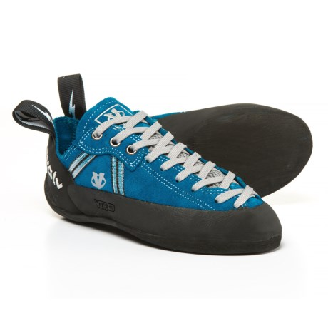 Evolv Royal Lace Climbing Shoes - Suede (For Big Kids) in Royal Blue
