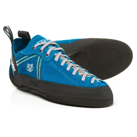 Evolv Royale Lace Climbing Shoes - Suede (For Men and Women) in Royal Blue