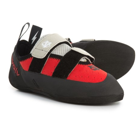 Evolv Valor Climbing Shoes (For Big Kids) in Red/Black