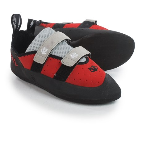 Evolv Valor Climbing Shoes (For Men) in Red/Black