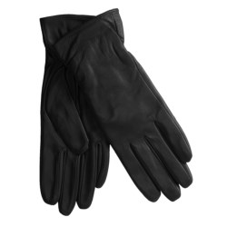Excelled Lambskin Leather Gloves - Cashmere Lining (For Women) in Black