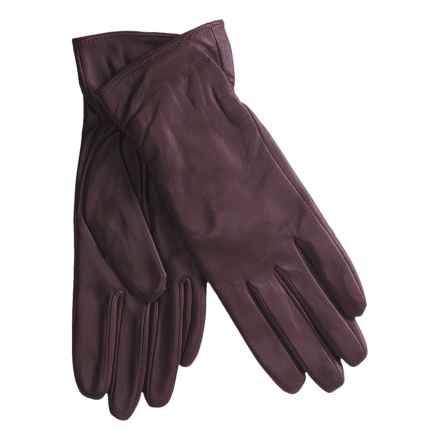 Excelled Lambskin Leather Gloves - Cashmere Lining (For Women) in Purple - Closeouts