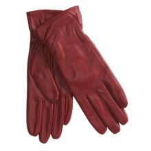 Excelled Lambskin Leather Gloves - Cashmere Lining (For Women) in Red - Closeouts