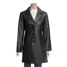 Excelled Leather Walker Coat - Lambskin (For Women) in Black - Closeouts