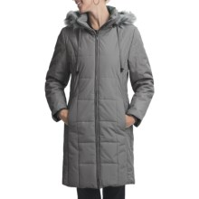 Excelled Long Coat - Insulated (For Women) in Platinum - Closeouts