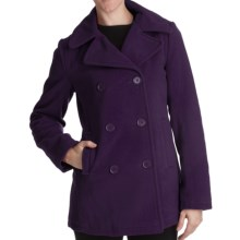 Excelled Pea Coat - Insulated (For Plus Size Women) in Purple - Closeouts