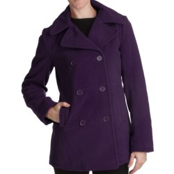 Excelled Pea Coat - Insulated (For Plus Size Women) in Purple