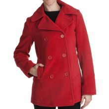Excelled Pea Coat - Insulated (For Women) in Red - Closeouts