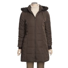 Excelled Quilted Coat - Insulated, Removable Hood (For Women) in Brown - Closeouts