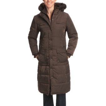 Excelled Quilted Puffer Parka (For Women) in Brown