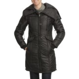 Excelled Smocked Hooded Stadium Jacket - Insulated (For Women)