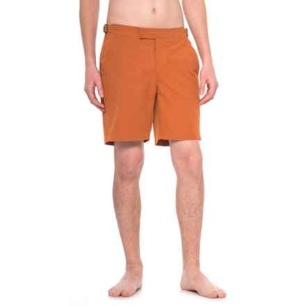 Exley Bristol Swim Shorts (For Men) in Rusted Orange - Closeouts