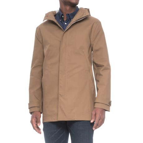 Exley Hooded Rain Jacket - Waterproof (For Men) in Taupe