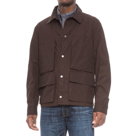 Exley Service Jacket - Cotton, Snap Closure (For Men) in Port