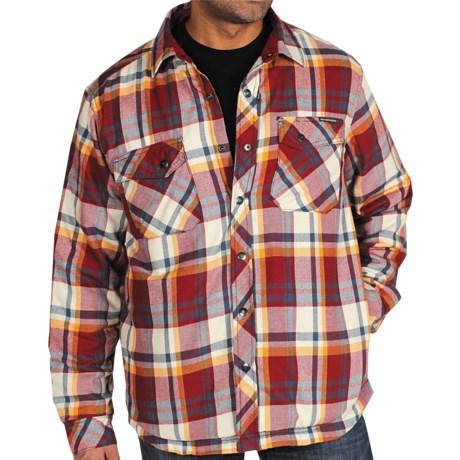 ExOfficio's Pocatello Plaid Shirt Jacket (For Men) in Dark Brick