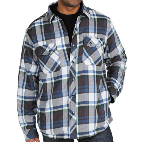 ExOfficio's Pocatello Plaid Shirt Jacket (For Men) in Dark Brick