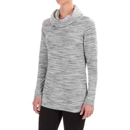 ExOfficio Adana Cowl Tunic Shirt - UPF 30, Long Sleeve (For Women) in Black/Slate/White - Closeouts