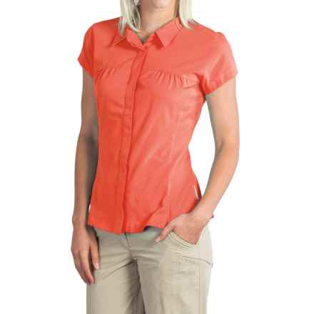 ExOfficio Air Space Shirt - Short Sleeve (For Women) in Hot Coral - Closeouts