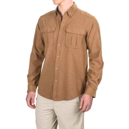 ExOfficio Air Space Shirt - Snap Front, Long Sleeve (For Men) in Toffee - Closeouts