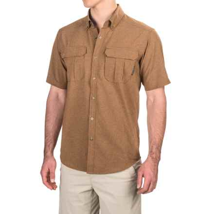 ExOfficio Air Space Shirt - Snap Front, Short Sleeve (For Men) in Toffee - Closeouts