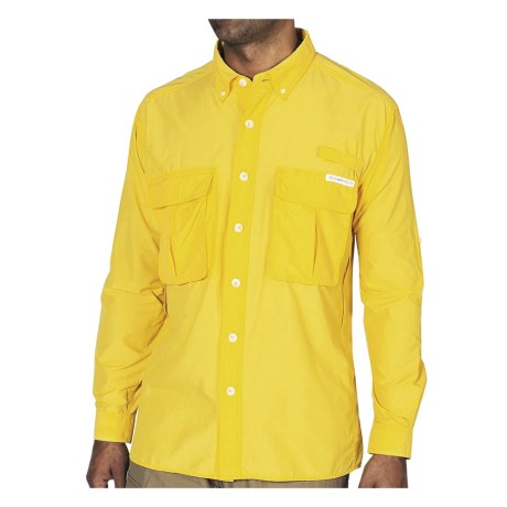 ExOfficio Air Strip Lite Shirt - UPF 30+, Long Sleeve (For Men) in Bright Sun