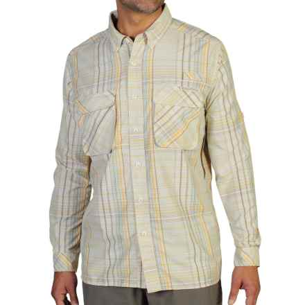 ExOfficio Air Strip Macro Plaid Shirt - UPF 30+, Button Front, Long Sleeve (For Men) in Bone - Closeouts