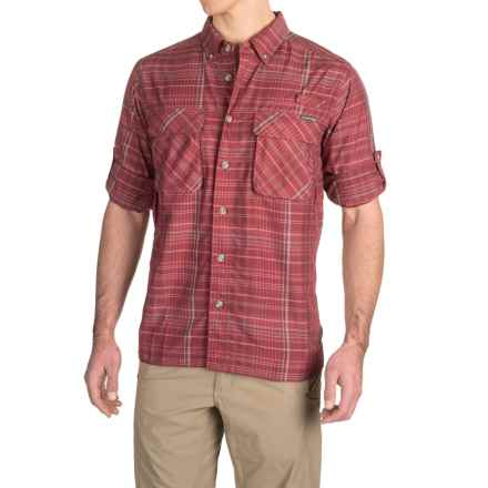 ExOfficio Air Strip Macro Plaid Shirt - UPF 30+, Button Front, Long Sleeve (For Men) in Claret - Closeouts