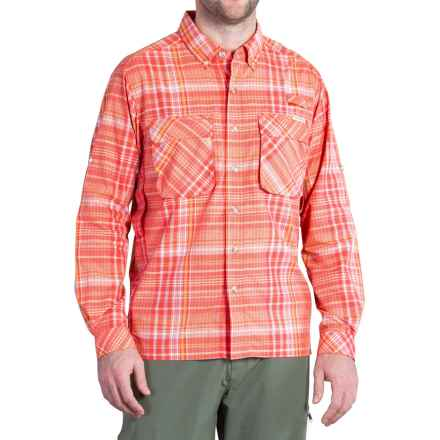 ExOfficio Air Strip Macro Plaid Shirt - UPF 30+, Button Front, Long Sleeve (For Men) in Fire Opal - Closeouts