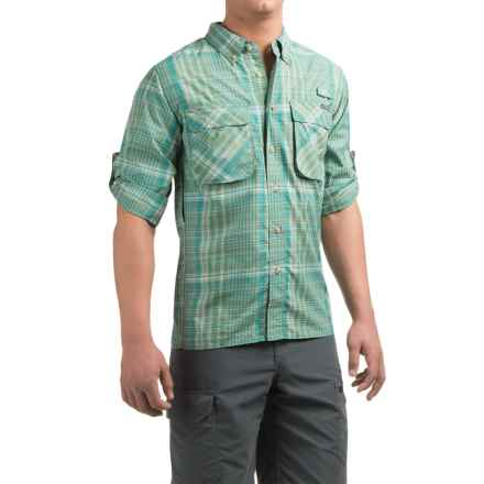 ExOfficio Air Strip Macro Plaid Shirt - UPF 30+, Button Front, Long Sleeve (For Men) in Hops - Closeouts