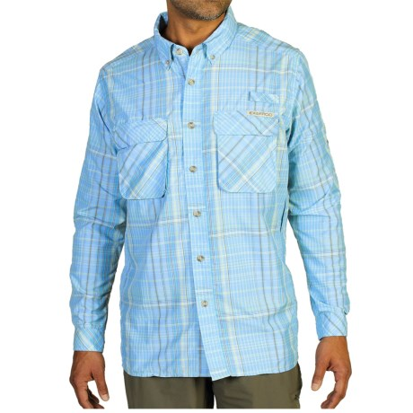 ExOfficio Air Strip Macro Plaid Shirt UPF 30+, Button Front, Long Sleeve (For Men)