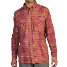 ExOfficio Air Strip Macro Plaid Shirt - UPF 30+, Button Front, Long Sleeve (For Men) in Tango - Closeouts